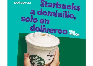 Starbucks a domicilio con Deliveroo