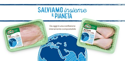 Fileni presenta il nuovo packaging compostabile