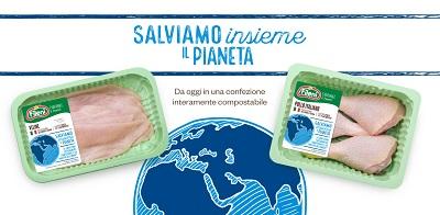 Fileni presenta il nuovo packaging compostabile