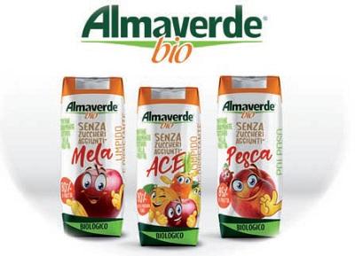 Fruttagel, nuove bevande alla frutta a marchio Almaverde Bio