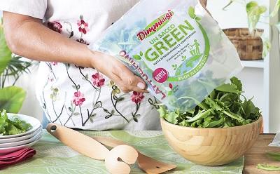 Un Sacco Green, le insalate in busta biodegradabile