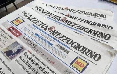 La Ledi di Ladisa compra il ramo d'azienda di Edisud editrice della Gazzetta del Mezzogiorno