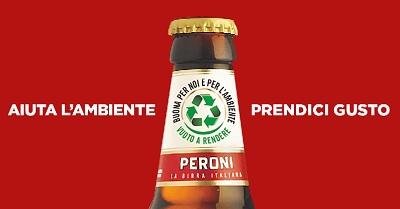 Peroni lancia la nuova bottiglia UNI vuoto a rendere