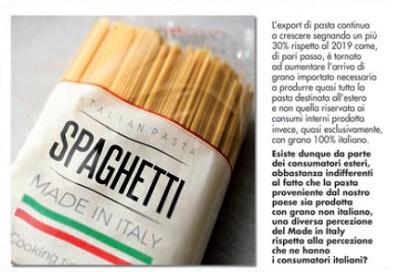 Pasta e grano importato: qual'è la percezione dei consumatori esteri del Made in Italy?