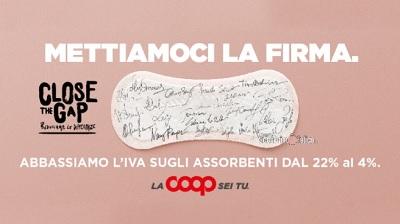 Coop Italia taglia l'Iva sugli assorbenti