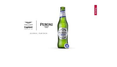 Partnership Peroni-Aston Martin nella birra analcolica