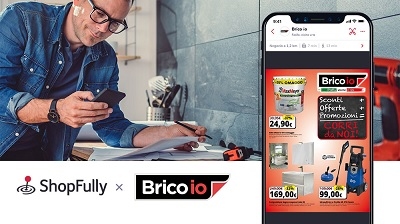 Brico io punta sul digitale: al via la partnership con Shopfully