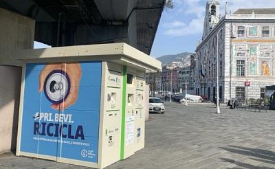 A Genova inaugurato il primo eco-compattatore per le lattine in alluminio