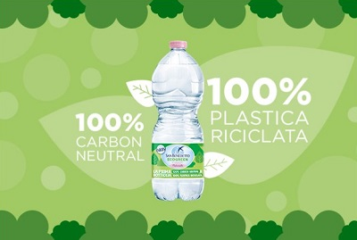 San Benedetto lancia la nuova bottiglia Ecogreen 1L Easy realizzata con il 100% di pet riciclato