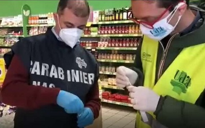 Sanificazioni anti-Covid nei supermercati
